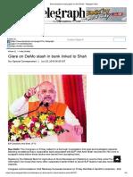 Demonetisation Money Glare on Amit Shah - Telegraph India
