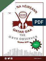 Oryx Observer - October