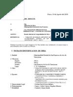 CARTA N° 001 COMPATIBILIDAD DE OBRA cochacharao