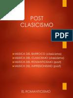 Post Clasicismo