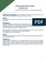 libreto certificación lectora