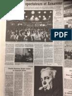Notre page consacrée à Charles Aznavour le 4 octobre 1996 dans la République du Centre