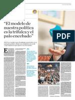 El Modelo de Nuestra Política Es La Trifulca y El Palo Encebado