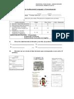 Evaluación Institucional Lenguaje y Comunicación Octubre Maxi, Facundo