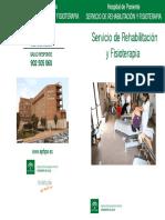 Información Al Usuario de Rehabilitación y Fisioterapia