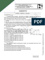 1 Certificacao - 1 Turno - Gabarito - 1 Serie - 2011