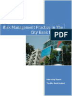 Risk Management of City Bank