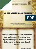 La Educación Como Sistema