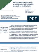 Foro Educación Secundaria - Presentación OIE - Argentina