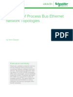 A Review of Process Bus Ethernet Network Topologies