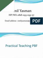 Materi Practical Teaching PBF