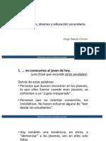 """Adolescentes, jóvenes y educación secundaria"""" por Jorge Baeza"""