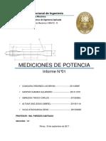 INFORME N°1 - MEDICIONES DE POTENCIA Y VELOCIDAD