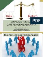 Analisis Risiko Dan Pengembaliannya