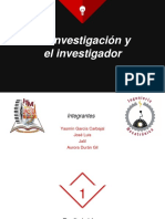 Investigación e Investigador