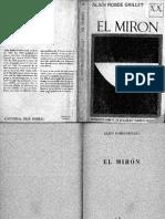 El Mirón, Robbe-Grillet- 1969