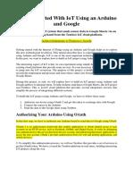 IoT Arduino Google