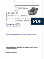 Simulado XXVII - Perito Criminal Federal - Área 6