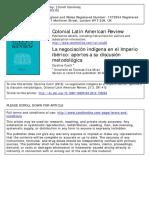 La Negociacion Indigena en El Imperio Iberico