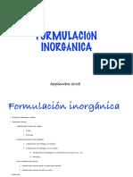 Formulación inorgánica