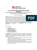 Geneva Declaration Newsletter 01 Spanish