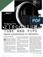 Zirconium Tube and Pipe Fab