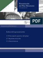 Presentación Del Plan Monetario