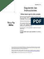 Siguiendo Las Instrucciones Espanol