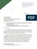 Rossello v. United States, United States Opposition on the Merits