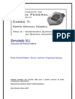 Simulado XLI - Perito Criminal Federal - Área 6