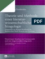 Theorie und Methode einer literatur-wissenschaftliche Imagologie
