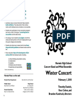 2018-02-01 Draft 4 HS Band Concert Program 02-18