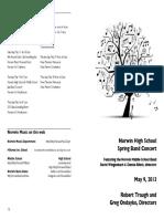 2013.05.09 HS MS Band Concert 5-13 Print PDF