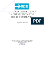 MISTI General Emergency Information