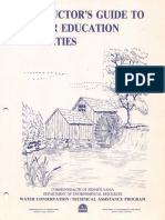 Instructors Guide to Water Education Activities PA DEP