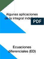 Clase 6 - Algunas Aplicaciones Integral Indefinida
