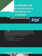 Generalidades de Historia Económica de Honduras