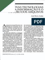 JARDIM, José Maria - As novas tecnologias da informação e o futuro dos arquivos - EHv5n10.pdf