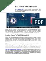 Prediksi Chelsea vs Vidi 5 Oktober 2018