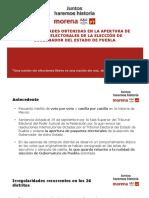 Recuento de votos Puebla, irregularidades