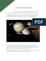 Clasificacion de Planetas