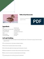 Toffee Crisp Cheesecake _ Recipe _ Tastemade
