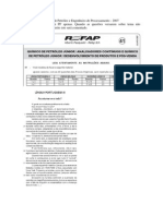 CESGRANRIO - Refap - Químico - Resolução Comentada