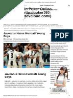 Juventus Harus Hormati Young Boys _ Liga Champions Matchday Ke 2