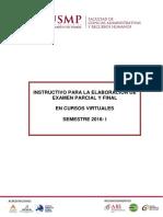 Instructivo-Elaboración de Examenes- Cursos Virtuales 2018 I