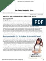Hati Hati Situs Poker Palsu Berkedok Situs Dewapoker99.pdf