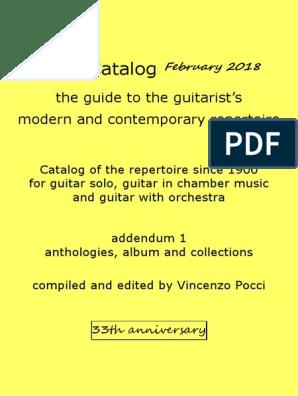 Pocci Catalog 33th February 2018 Anthologies
