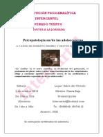 Jornada Intercartel - Psicopatología en-De Las Adolescencias