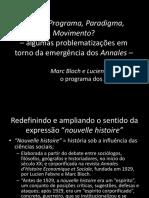 Algumas problematizações em torno da emergência revista Annales