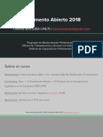 Parlamento Abierto (HCDN, 2018) Eje I